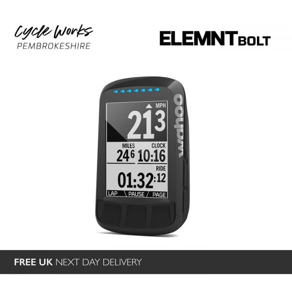 Wahoo ELEMNT Bolt at Cycle Works Pembrokeshire - Road and Triathlon Cycling Servicing and Wahoo Dealership in West Wales.