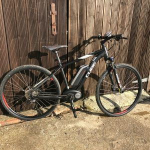 Second Hand Cube Cross Hybrid Pro 400 Bosch Electric Bike at Cycle Works Pembrokeshire
