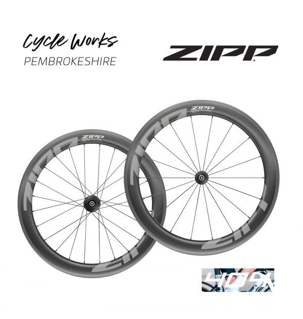 Zipp 404 Firecrest wheels at Cycle Works Pembrokeshire, Wales. Cycling shop