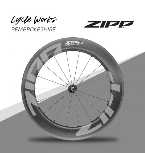 Zipp 808 Firecrest wheels at Cycle Works Pembrokeshire, Wales. Cycling shop